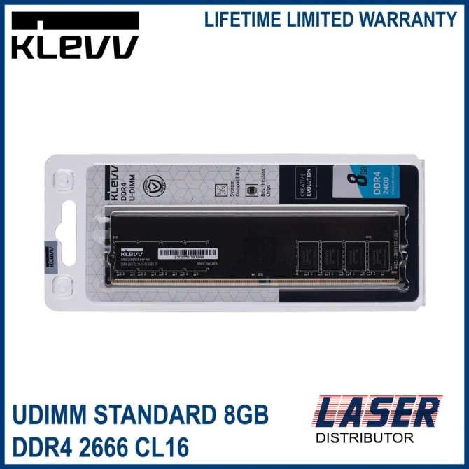 KLEVV Performance Ram 8GB DDR4 2666 CL16 XMP UDIMM (Desktop)