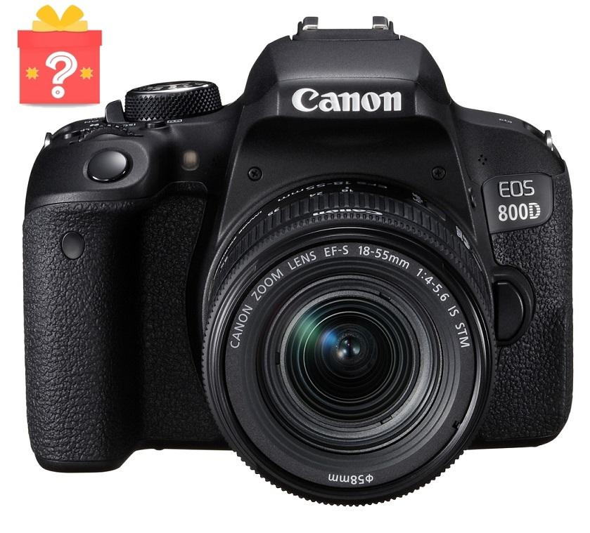 Canon EOS 800D + EF-S 18-55mm IS STM Lens + Free Gift Worth $199