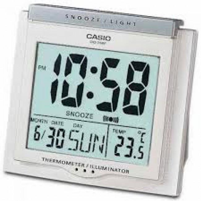 Casio #DQ750F-7DF Multi Function Digital Thermometer Table Top Alarm Clock image