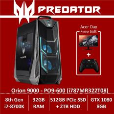 Predator Orion 9000 PO9-600 (i787MR322T08) Gaming Desktop – 8th Gen Intel Core i7-8700K processor with Nvidia GTX 1080 (8GB DDR5X) – Free KG271 monitor + Xbox Wireless Controller