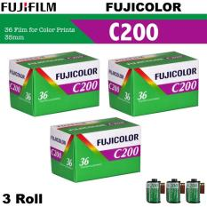 3 Roll Fujifilm Fujicolor C200 Color Negative 35mm 135 Roll Film ( 36 Exposures )