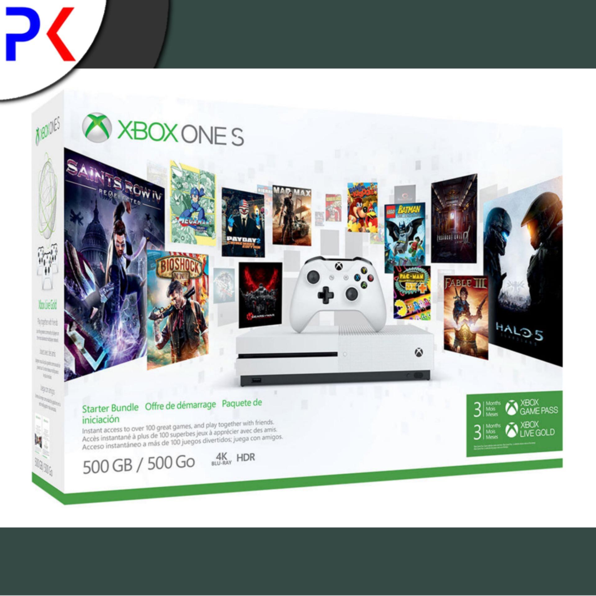 Xbox One S 500GB (ASIA) Starter Bundle