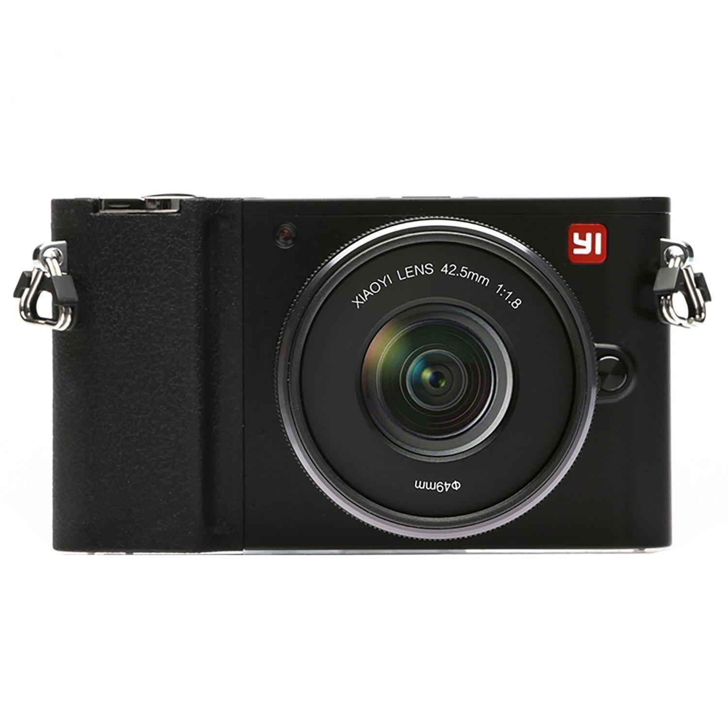 YI M1 Mirrorless Digital Camera with 12-40mm F3.5-5.6 Lens / 42.5mm F1.8 Lens (Storm Black)