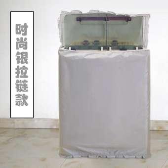 AUX 6.5/7.5 กก. XPB75-96J/65 กึ่งอัตโนมัติบาร์เรลคู่กระบอกคู่ผ้าคลุมเครื่องซักผ้ากันน้ำกันแดด