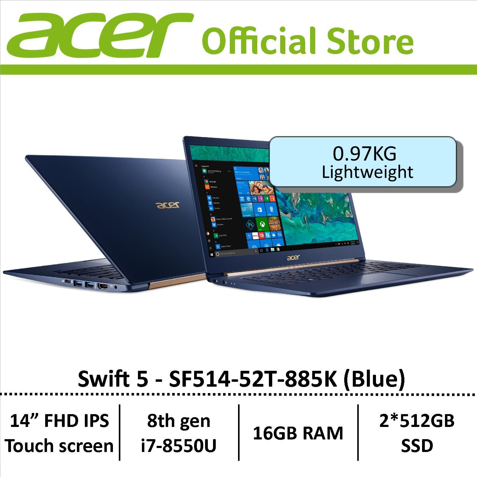 Acer Swift 5 SF514-52T-885K(Blue) Thin & Light Laptop – Free Gift with purchase