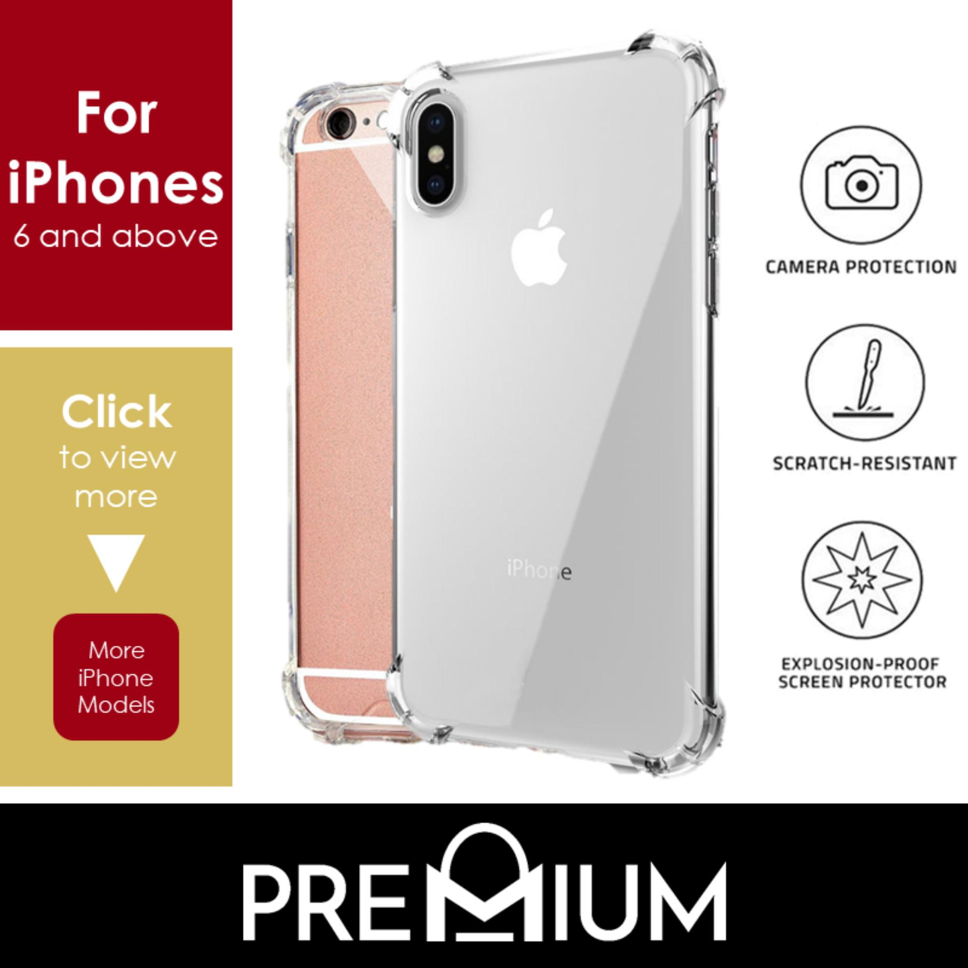 Anti Shock Tough Armor Slim Flexible Case Casing Phone Cases For iPhone Xs Max XR X 7 8 6 6S 5 5S Plus – Clear