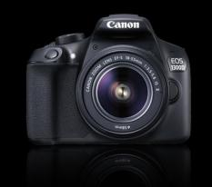 Canon EOS 1300D with EFs18-55mm II is / EF75-300mm III Black -export only