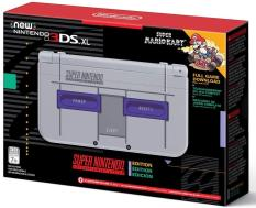 Nintendo New 3DS XL – Super NES Edition + Super Mario Kart for SNES (without AC Adaptor)