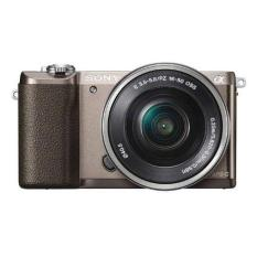 (Special Offer) Sony ILCE-5100 (A5100) Kit (SELP1650) (2 x 16GB SD Card,1 x Case, 1x Screen Protector) (Brown)