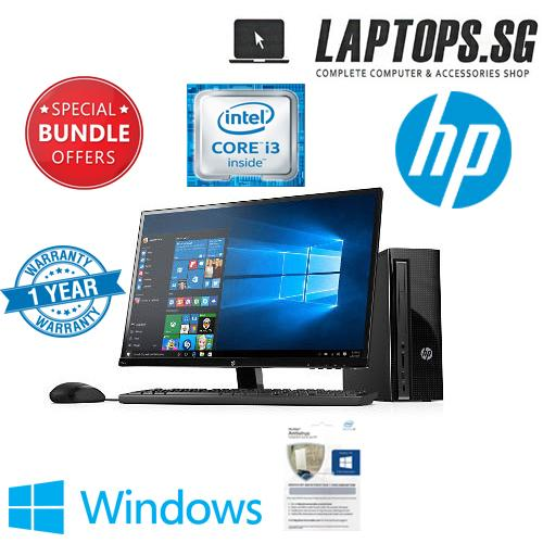 SPECIAL OFFER HP DESKTOP COMPLETE SET i3 7th GEN CPU /4GB RAM /1TB HDD/ WIFI +BLUETOOTH / WIN 10 HOME/18.5 INCH HPLCD MONITOR/1YR ANTIVIRUS