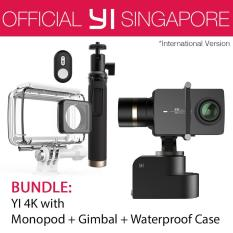 YI 4K Action Camera Kit Bundle with YI Handheld Gimbal