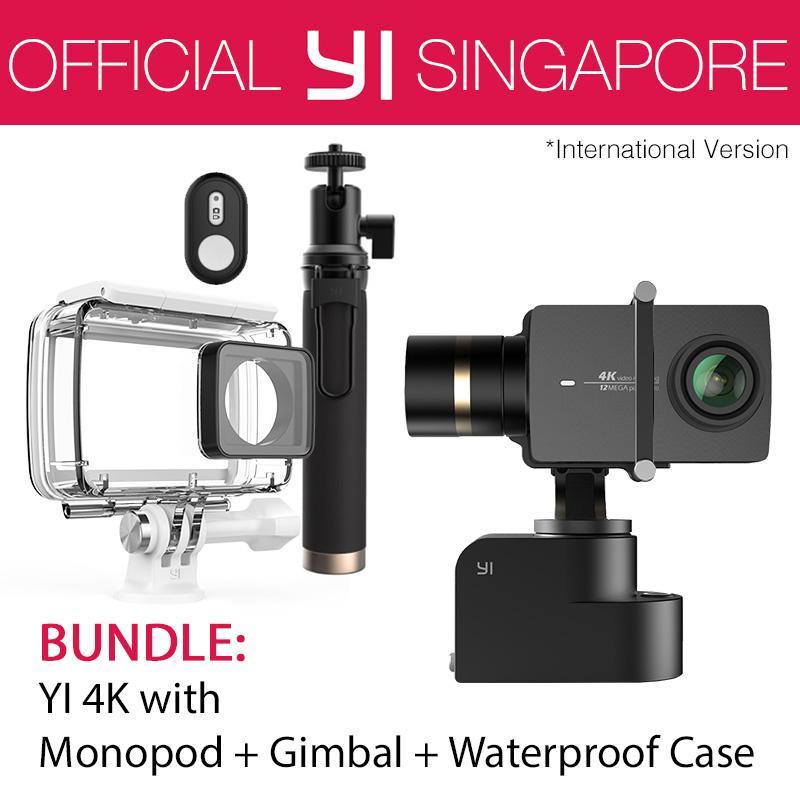 YI 4K Action Camera Kit Bundle with YI Handheld Gimbal