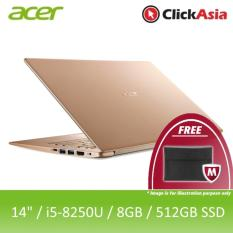 Acer Swift 5 (SF514-52T-57WC) – 14″/i5-8250U/8GB DDR4/512GB SSD/UHD/W10 (Gold)