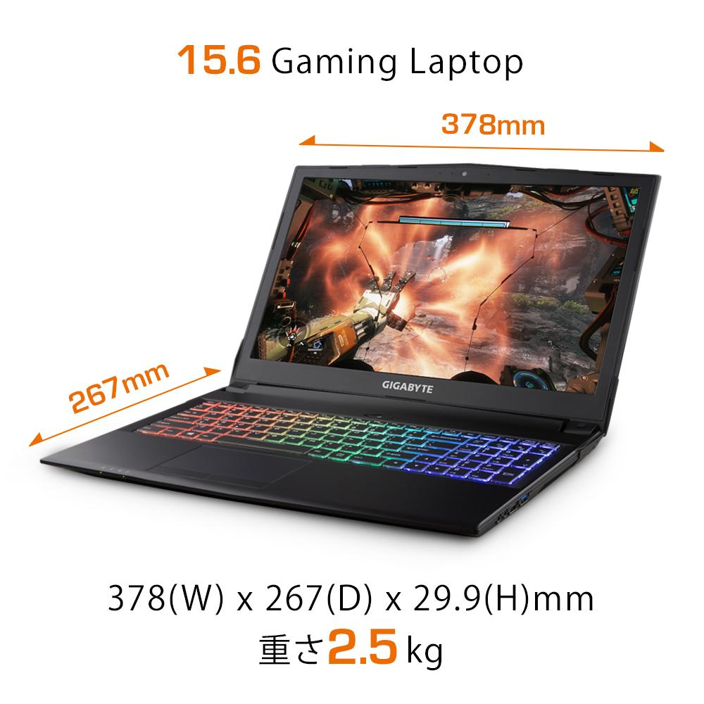 GIGABYTE Sabre 15-W8 Gaming Notebook [Ships 2-3 days]
