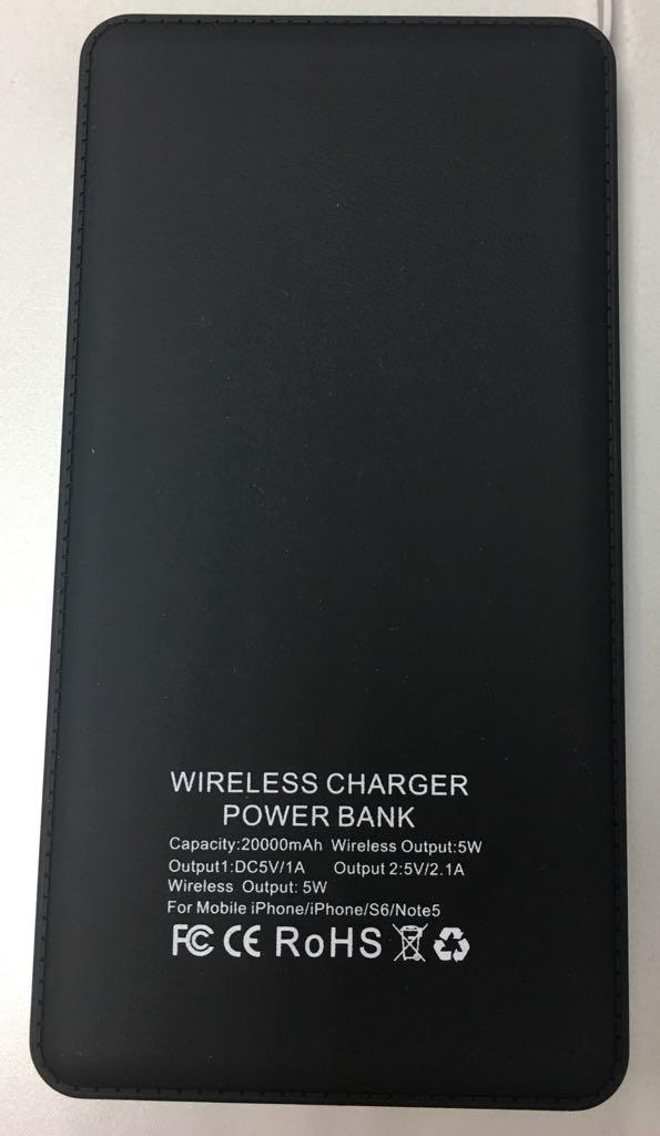 Power bank Qi Wireless charger 20000 mAh Slim Light weight Portable Powerbank with free gift