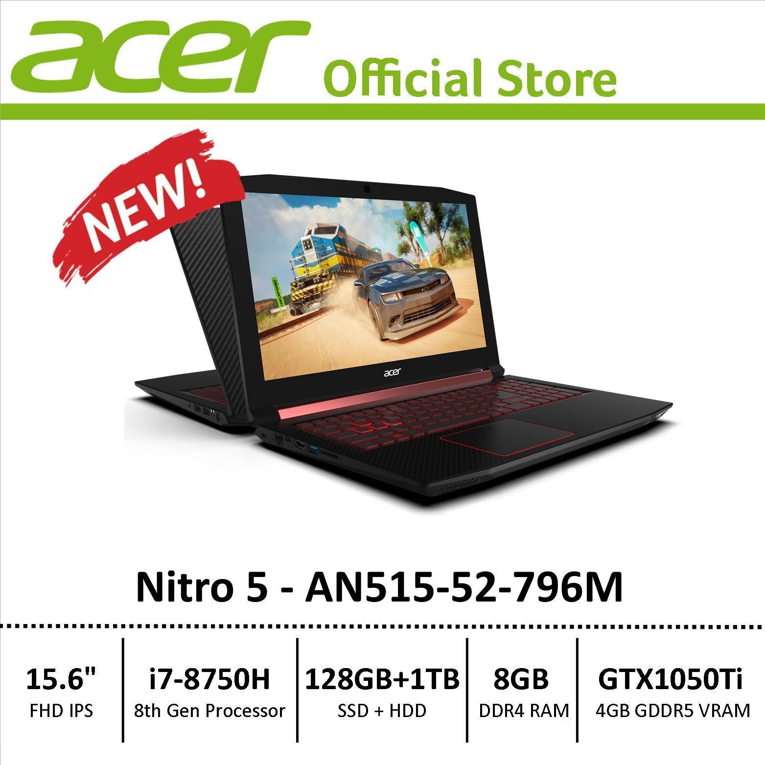 Acer Nitro 5 (AN515-52-796M) Gaming Laptop – 8th Generation i7 Processor with GTX 1050Ti Graphics