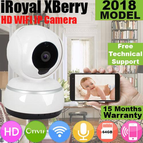 XBERRY IP Camera 720P Wireless HD IP CCTV Camera WiFi IR Night Vision Pan/Tilt New 2018 Chipset V380