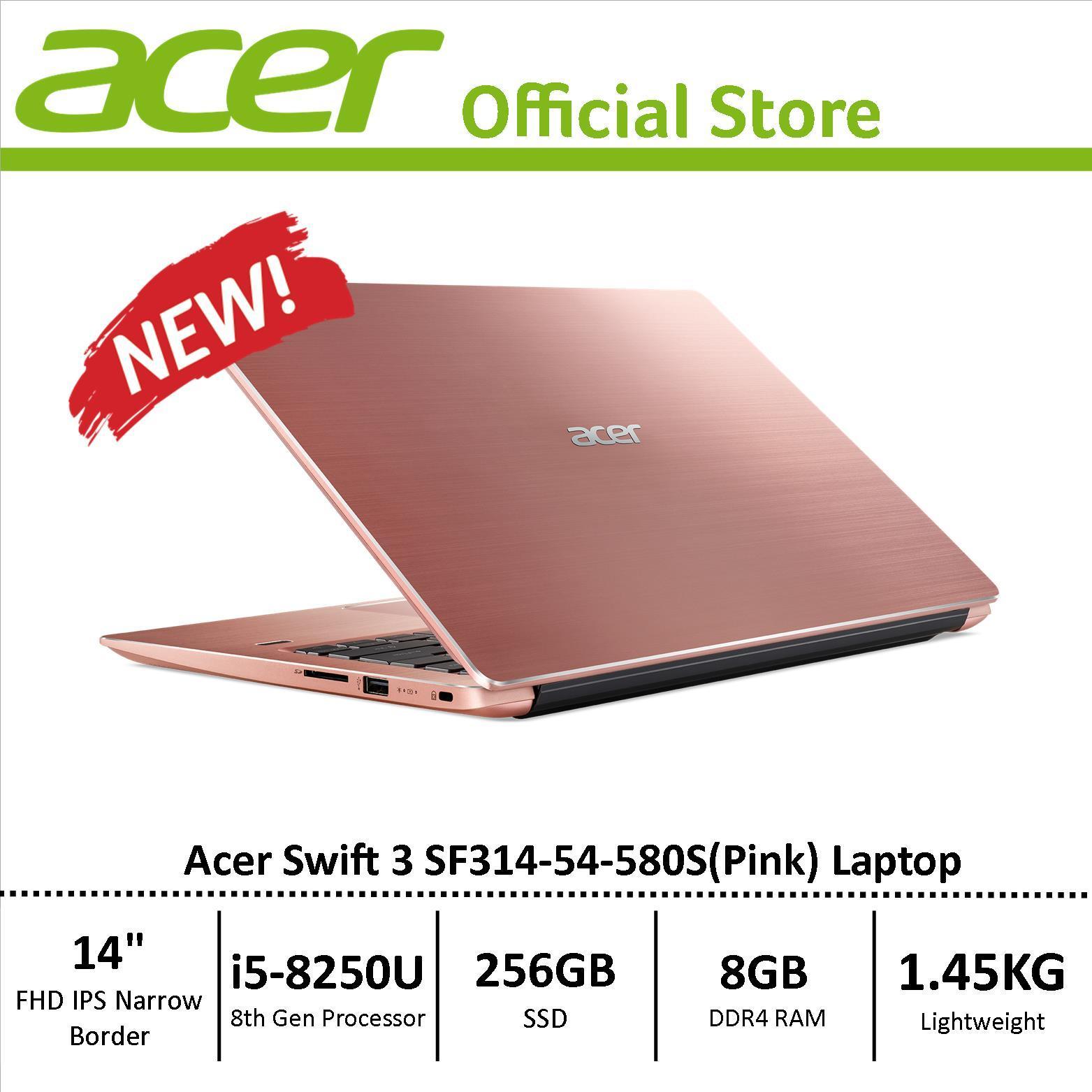 Acer Swift 3 SF314-54 Thin and Light Narrow Border Design Laptop - 8th Generation i5 Processor