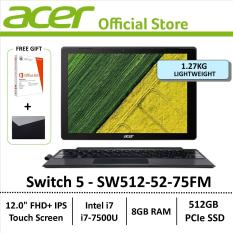 Acer Switch 5 SW512-52-75FM 2-in-1 Laptop