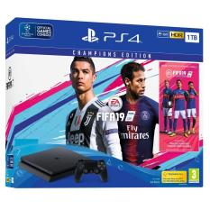New Sony PS4 Slim Console 500GB (Black) + PS4 FIFA 19 Champions Edition