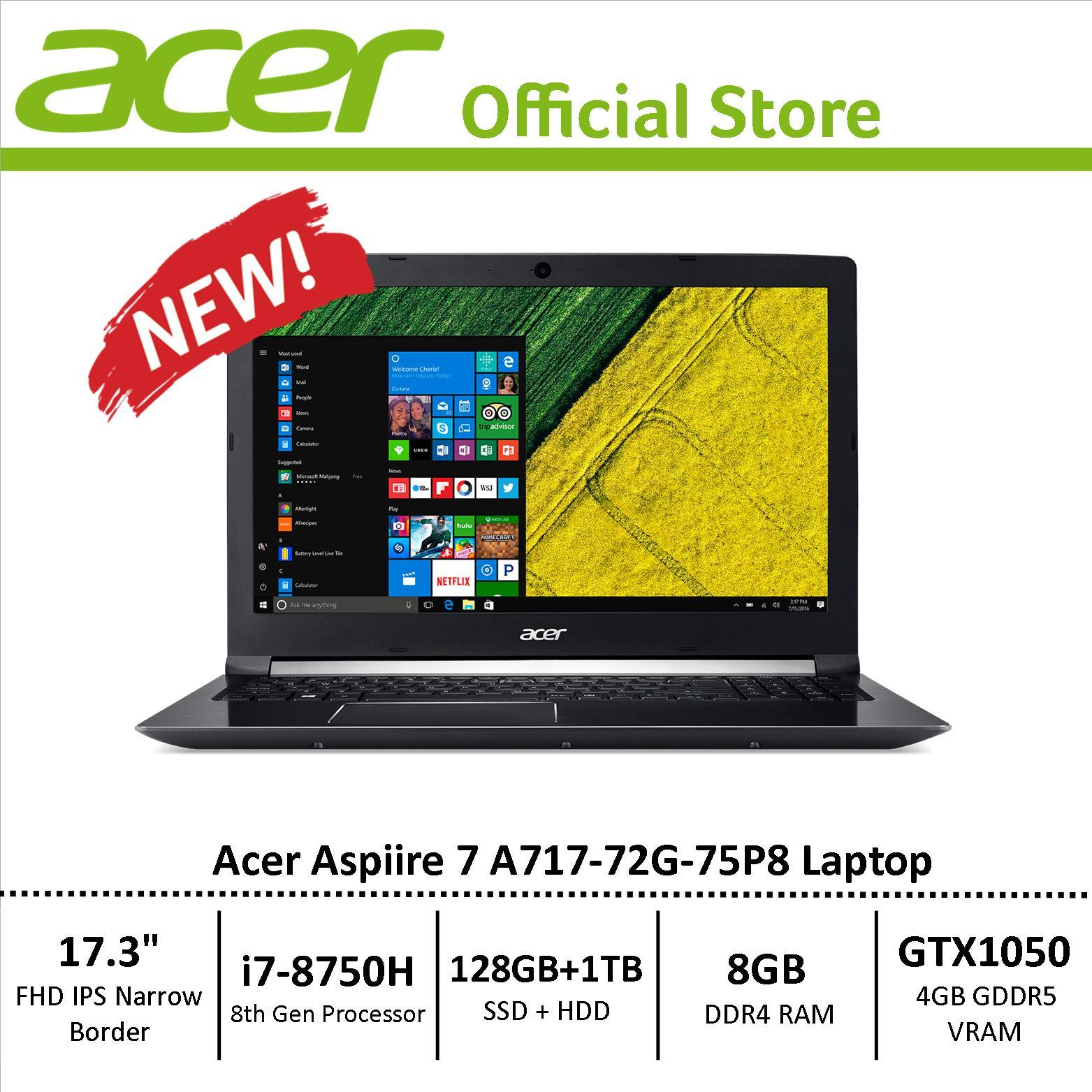 Acer Aspire 7 A717-72G-75P8 Performance Laptop – Free Gift with purchase