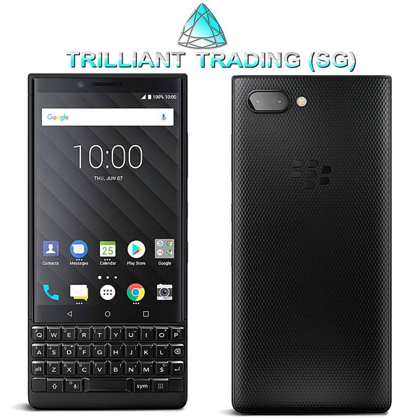 BlackBerry KEY2 Dual Sim 4G Smartphone Sg Warranty Set – BLACK (6GB RAM 64GB ROM) ***Free Premium Case, Tempered Glass Screen Protector and Sweat-proof Bluetooth in-ear Headphones.