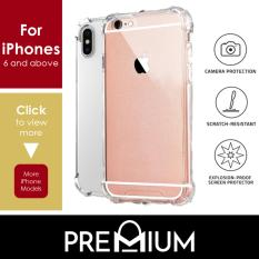 Anti Shock Tough Armor Slim Flexible Case Casing Cover Phone Cases For iPhone Xs Max XR X 7 8 6 6S 5 5S Plus – Clear