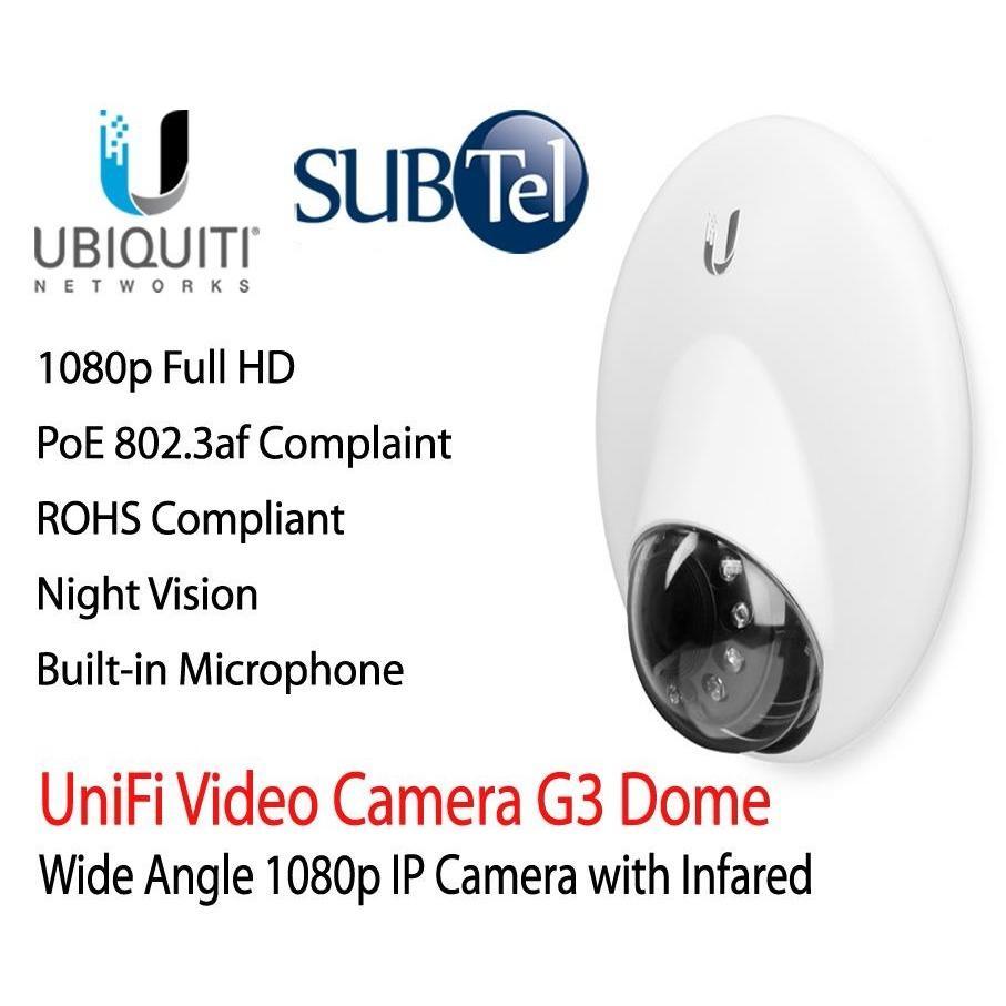 UVC-G3-DOME Ubiquiti Unifi Video Camera UVC-G3 Dome – 1080P UVC G3 Dome IP Camera With Infrared UBNT