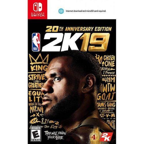 Pre-Order!!! Nintendo Switch NBA 2K19 [20TH ANNIVERSARY EDITION] (Ship earliest on 07 September 2018)