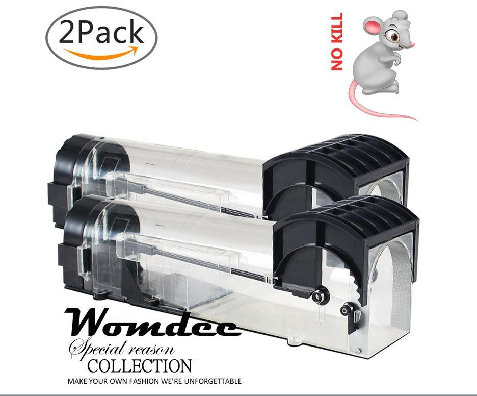 Womdee Humane Mouse Trap, Rodent Trap, No Kill Live Mice Catch Cage, 2 Pack - intl image on snachetto.com