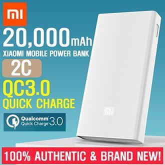 Xiaomi Mi Power Bank 20000mAh 2C Portable Battery Charger QC3.0 Quick Charge