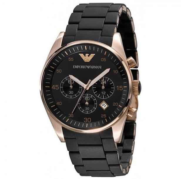 Emporio Armani Sportivo Chronograph Silicone Strap Mens Watch AR5905