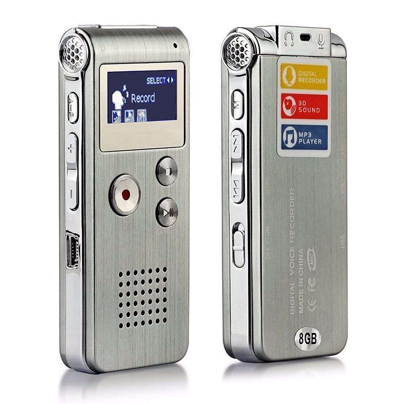 Máy ghi âm kỹ thuật số mini 8GB, máy ghi âm nhạc MP3 chuyên nghiệp – INTL