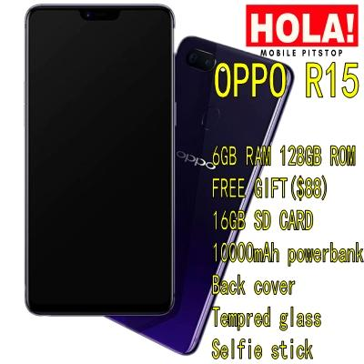 OPPO R15 ( LOCAL SET WITH 2 YEARS WARRANTY ) + FREE GIFTS WORTH $88