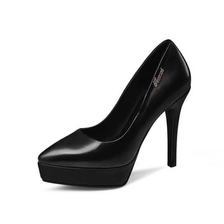 2018  printemps nouveau style ozhouzhan Vert  2018 des chaussures imperméables en cuir des chaussures à talons minces la plate - forme ultra - chaussures à talons hauts. 47d9b1