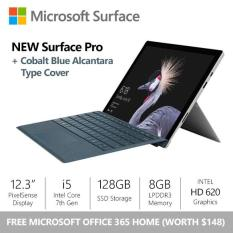 [FLASH SALE] Surface Pro (2017) i5 / 8gb / 128gb + Cobalt Blue Alcantara Type Cover + Office 365 Home Bundle