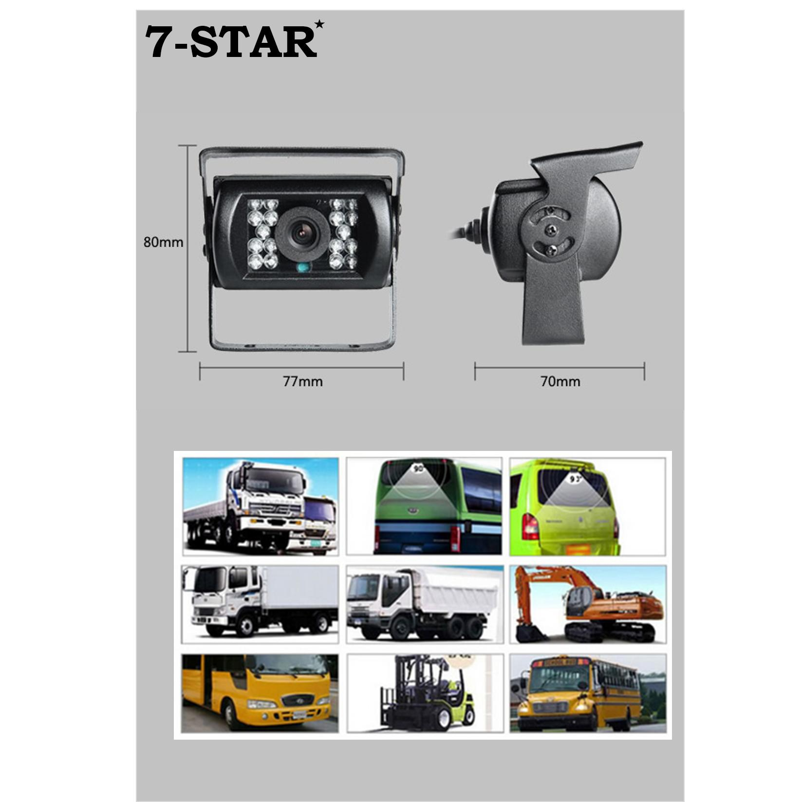 Sony CCD Weatherproof Rear View Car Camera For Vehicle/Bus/Truck/Coach/Trailer/Lorry/Van/Excavator/Crane Reverse Camera