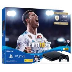 New Sony PS4 Slim Console 500GB (Black) + PS4 FIFA 18