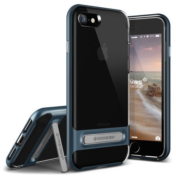 VRS Design Crystal Bumper Clear Kickstand Case iPhone 7 iPhone 8 Deep Blue