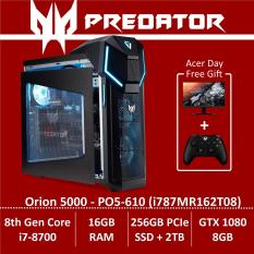 Predator Orion 5000 PO5-610 (i787MR162T08) Gaming Desktop – Free KG271 Monitor + Xbox Wireless Controller