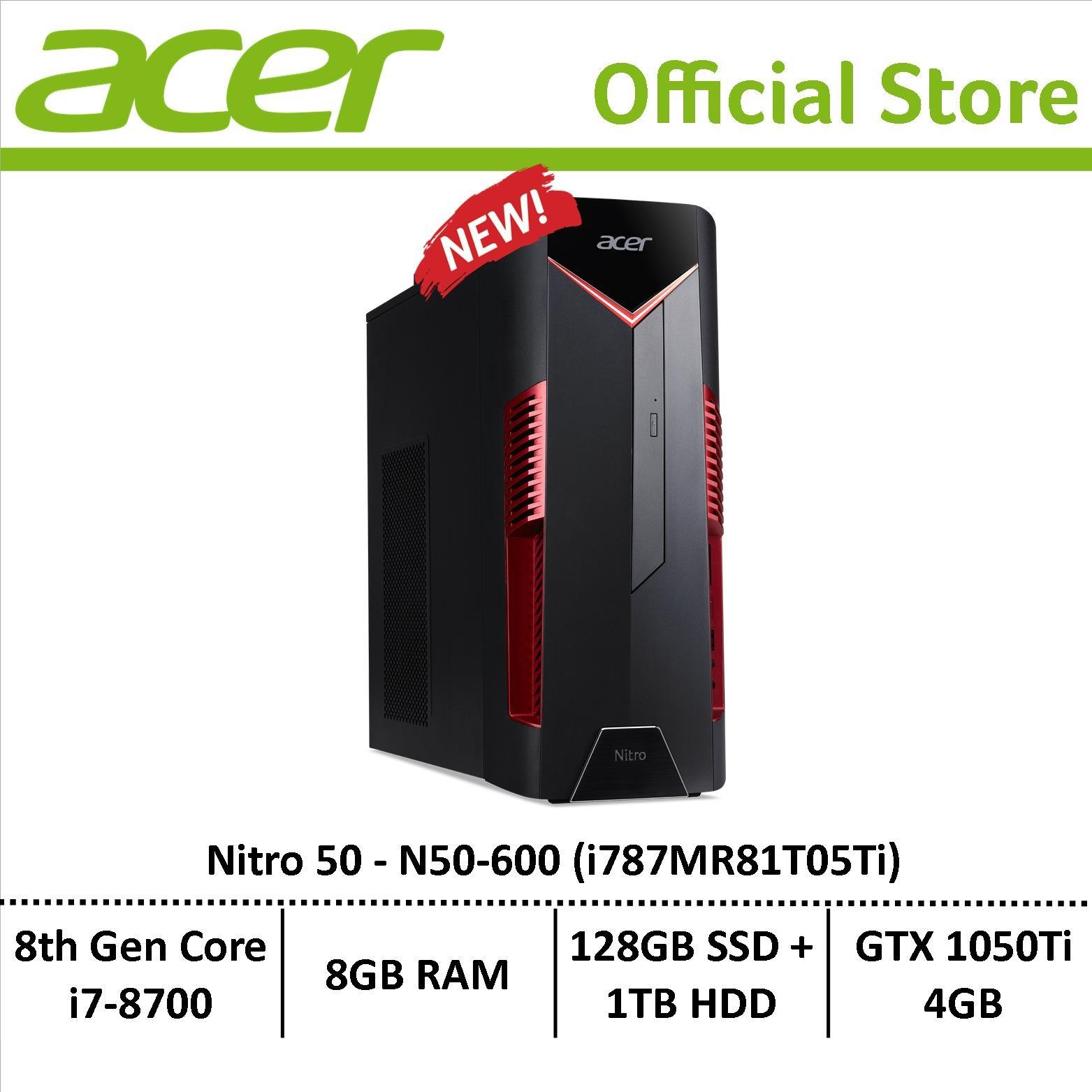 Acer Nitro 50 N50-600 (i787MR81T05Ti) Gaming Desktop