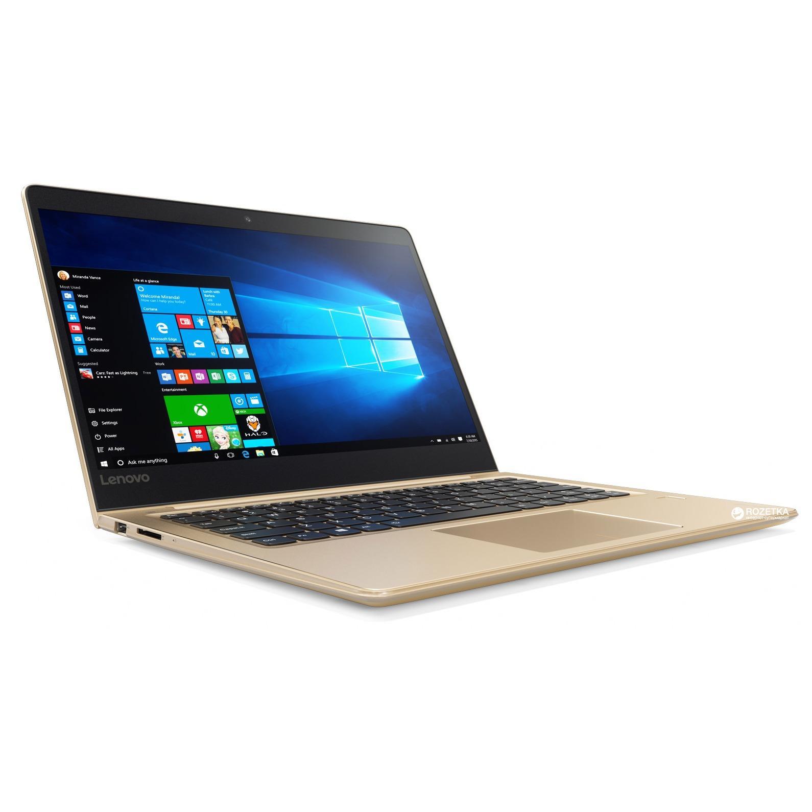 LENOVO IDEAPAD 710S PLUS 80W3005BSB 13.3IN INTEL CORE I7-7500U 8GB 256GB SSD NVDIA GT940MX 2GB WIN 10 HOME (GOLD)