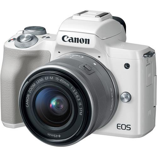 Canon EOS M50 Mirrorless Camera with 15-45mm Lens (White)