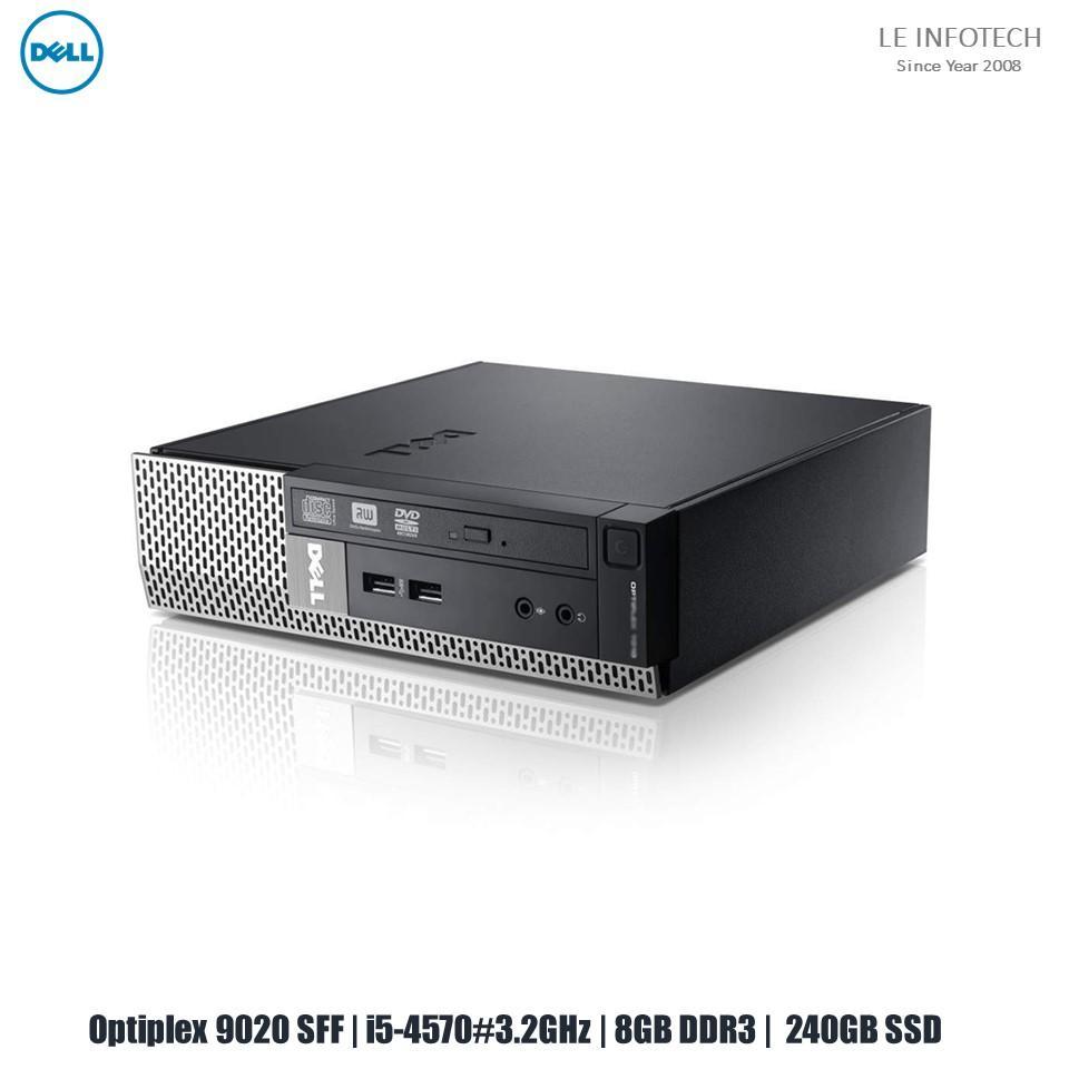 Dell Optiplex 9020 SFF Quad Core i5-4570#3.2GHz 8GB DDR3 240GB SSD Win 10 Pro Used Warranty