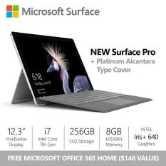 [SALE] Surface Pro (2017) i7 / 8gb / 256gb + Platinum Alcantara Type Cover + Office 365 Home Bundle