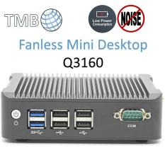 Mini Desktop Intel N3160 Quad Core 1.60Ghz (Max 2.24Ghz) Mini PC