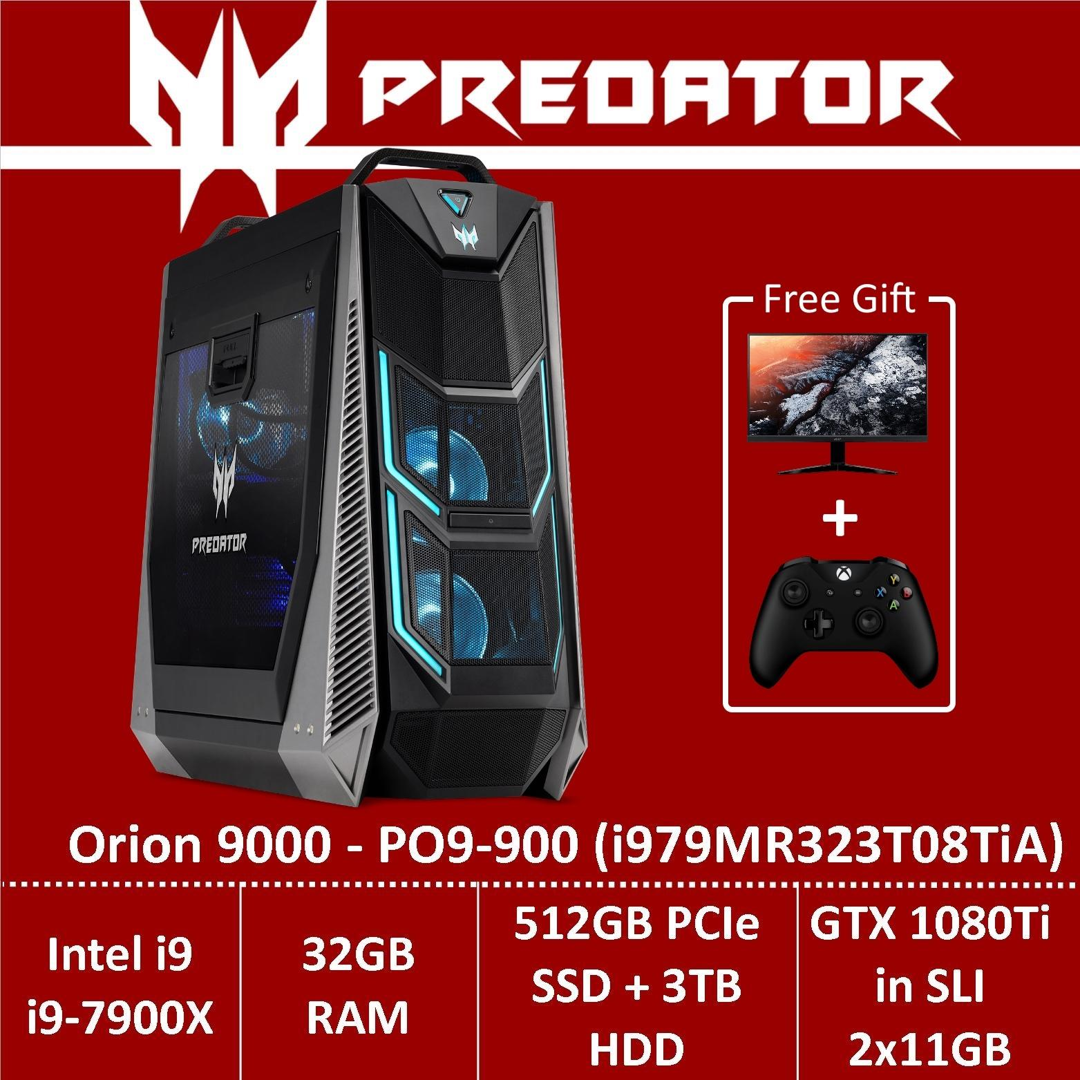 Predator Orion 9000 PO9-900 (i979MR323T08TiA) Gaming Desktop - Intel Core i9-7900X processor with NVIDIA GeForce GTX 1080Ti in SLI -...