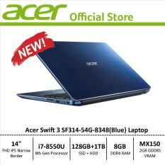 Acer Swift 3 SF314-54G Thin and Light Narrow Border Design Laptop – 8th Generation i7 Processor with NVIDIA Graphics Card
