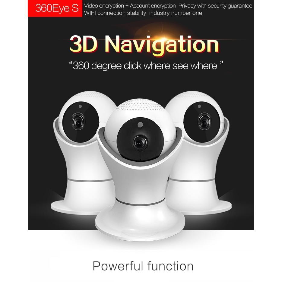 1080P HD 2MP Wifi IP Camera 360° Fisheye Indoor Security Surveillance CCTV