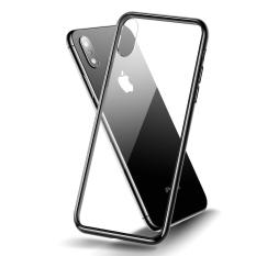 iPhone XS Max Tempered Glass Case, CAFELE Crystal Clear Ultra Slim Design Soft Shock Absorbent Edges Case [Drop Protection][Scratch Resistant][Clear Back] Cover For iPhone XS Max 6.5″